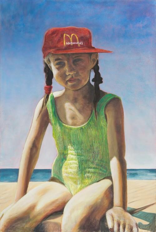 Bildnis der Schwester, Öl und Wachs auf Jute, 200 x 300 cm